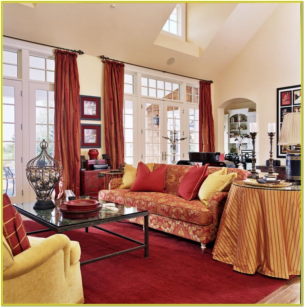 Living Room Ideas With Red Accessories