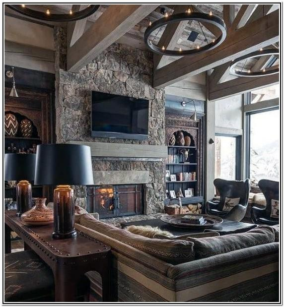 Living Room Ideas With Rustic Mahogany Furniture