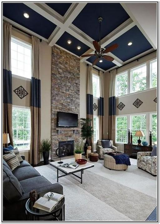 Living Room Ideas With Sectionals High Ceilings
