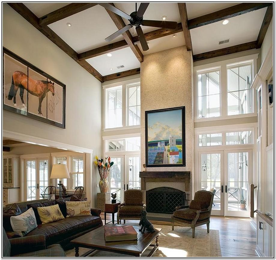 Living Room Ideas With Tall Windows