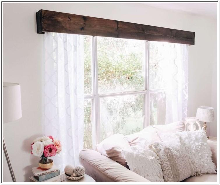 Living Room Ideas With Wooden Valances