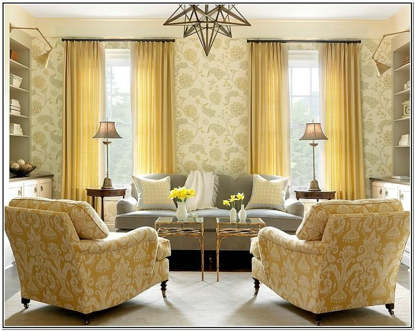 Living Room Ideas With Yellow Curtains