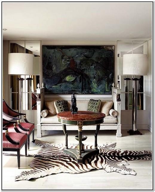 Living Room Ideas With Zebra Print Rug