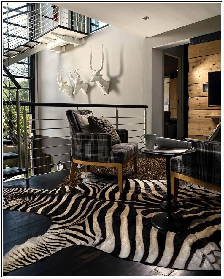 Living Room Ideas With Zebra Rug