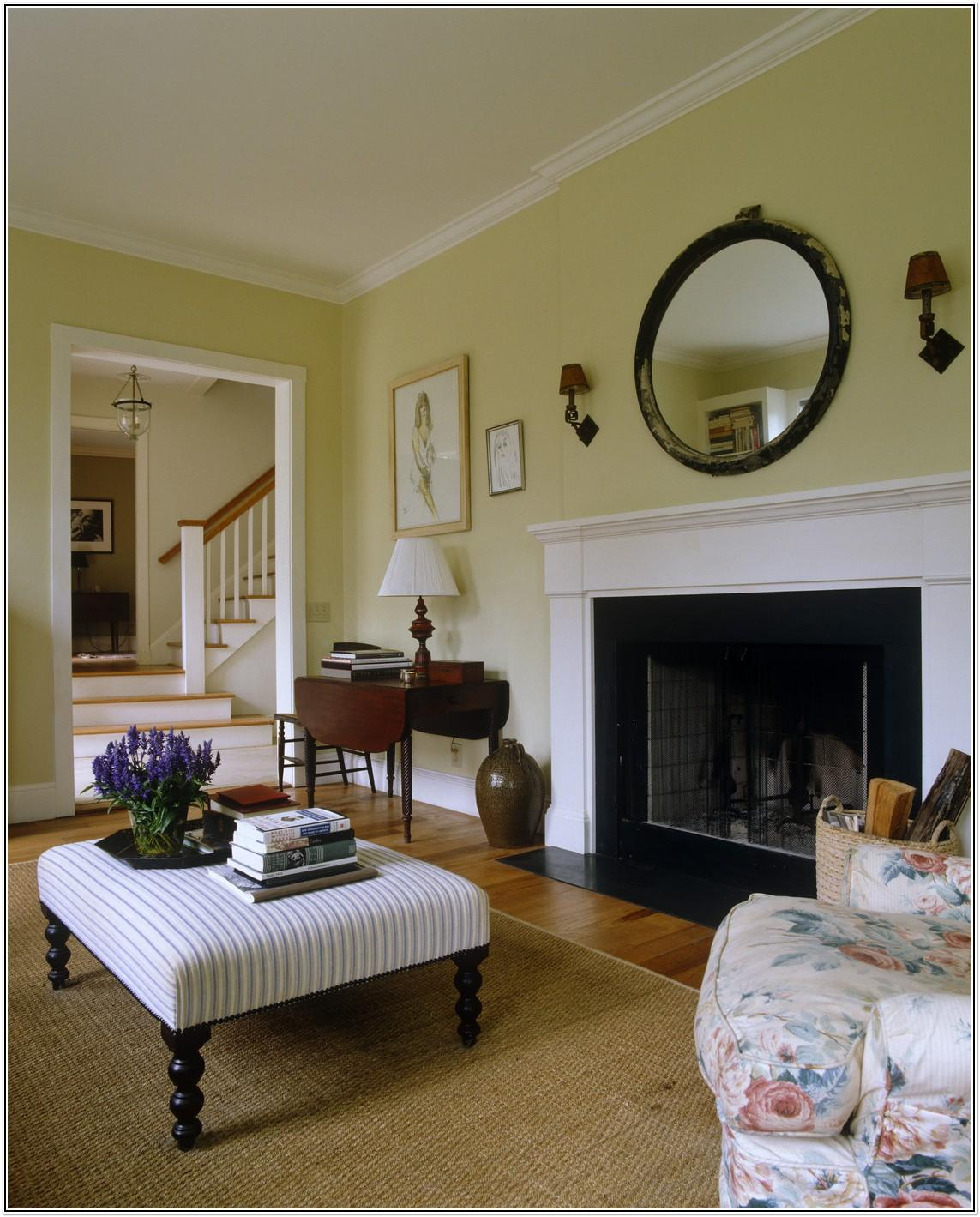 Living Room Ideas Yellow Walls Fireplace