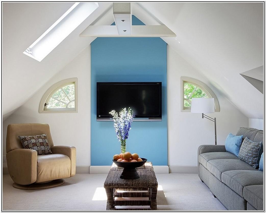 Living Room In Attic Idea