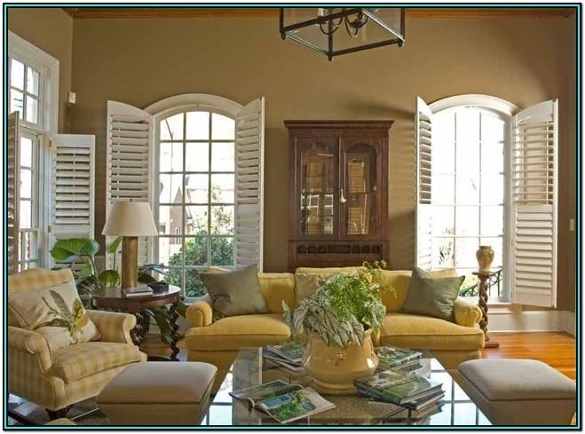 Living Room Interior Living Room Plantation Shutters