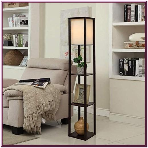 Living Room Lamp With Shelves