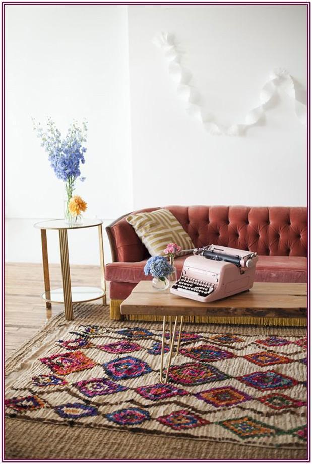Living Room Layered Jute Rug