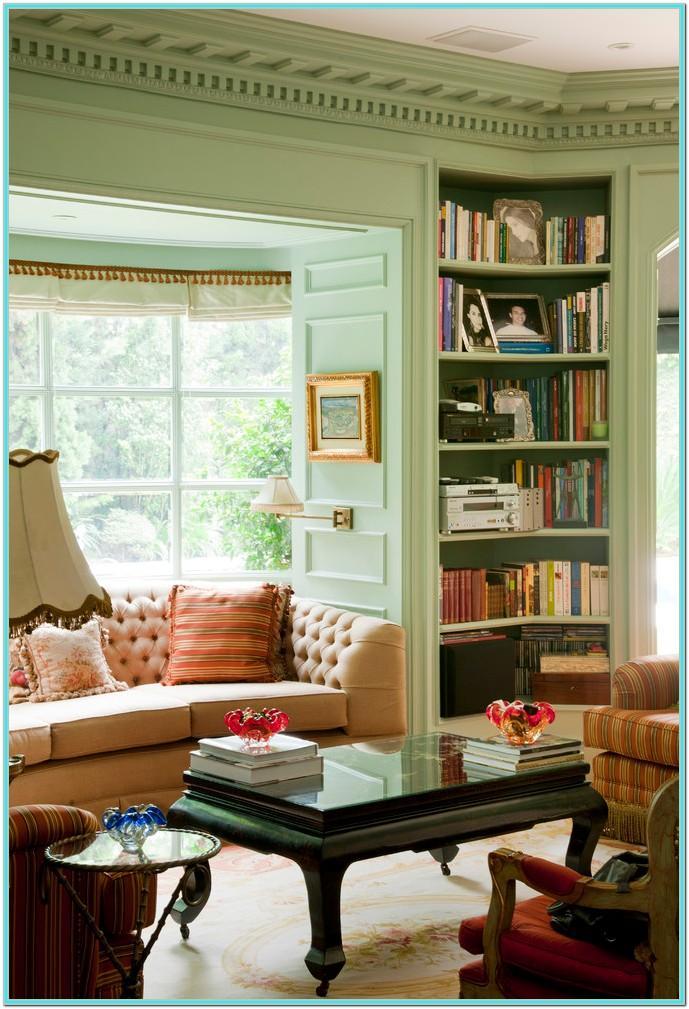 Living Room Library Corner Ideas