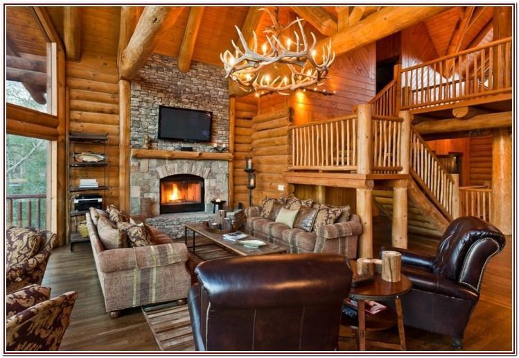 Living Room Log Cabin Furniture Ideas