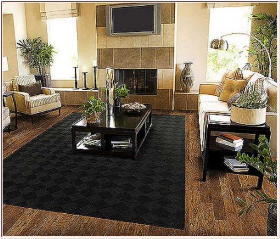 Living Room Luxury Black Carpet