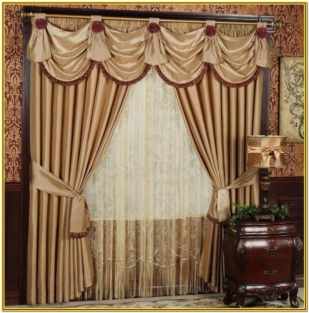Living Room Maroon And Gold Curtains