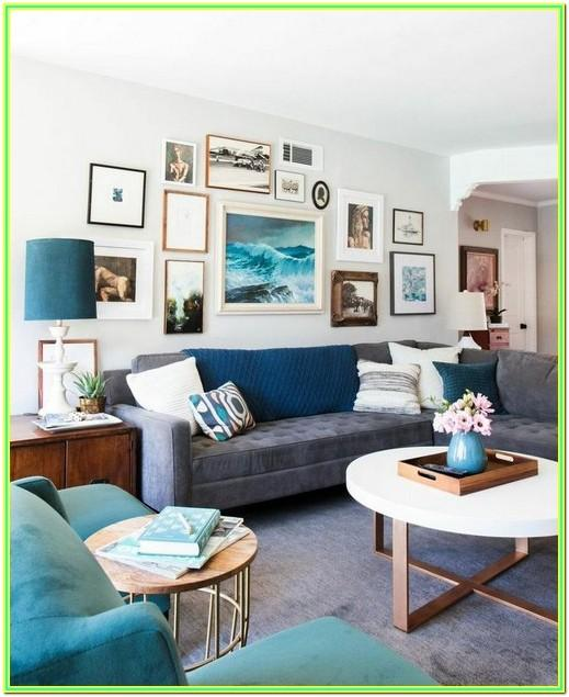 Living Room Mid Century Eclectic