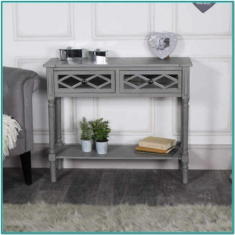Living Room Mirror Console Table