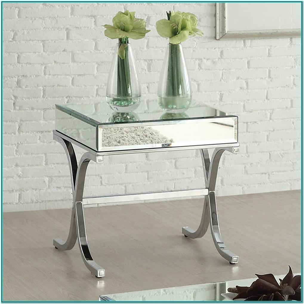 Living Room Mirror Side Table