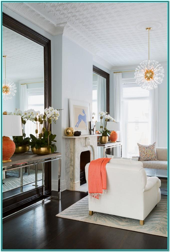 Living Room Mirror Table Decor