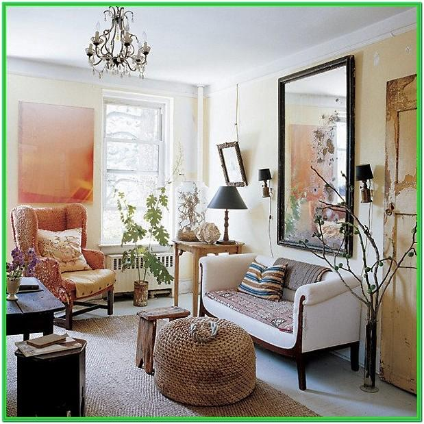 Living Room Mirror Wall Design Ideas