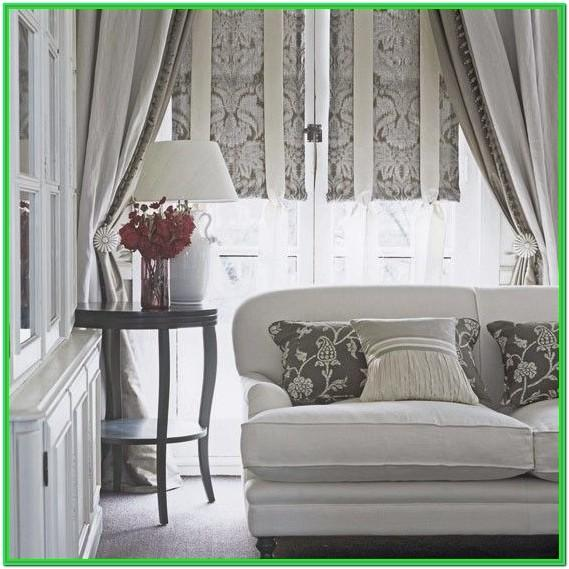 Living Room Modern Window Dressing