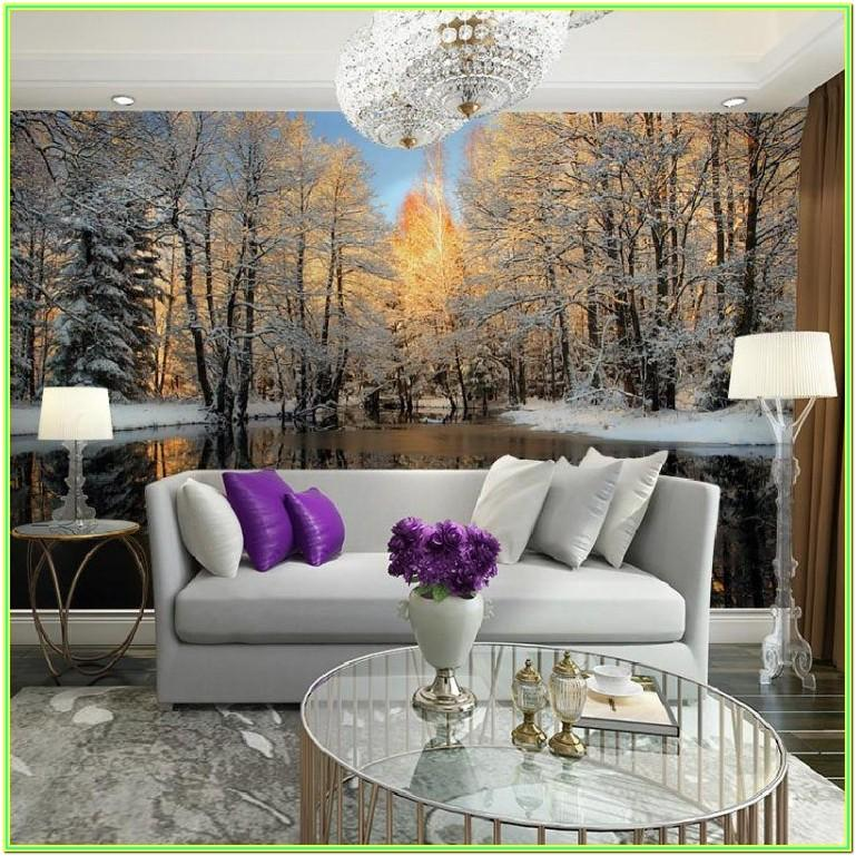 Living Room Mural Painting Ideas