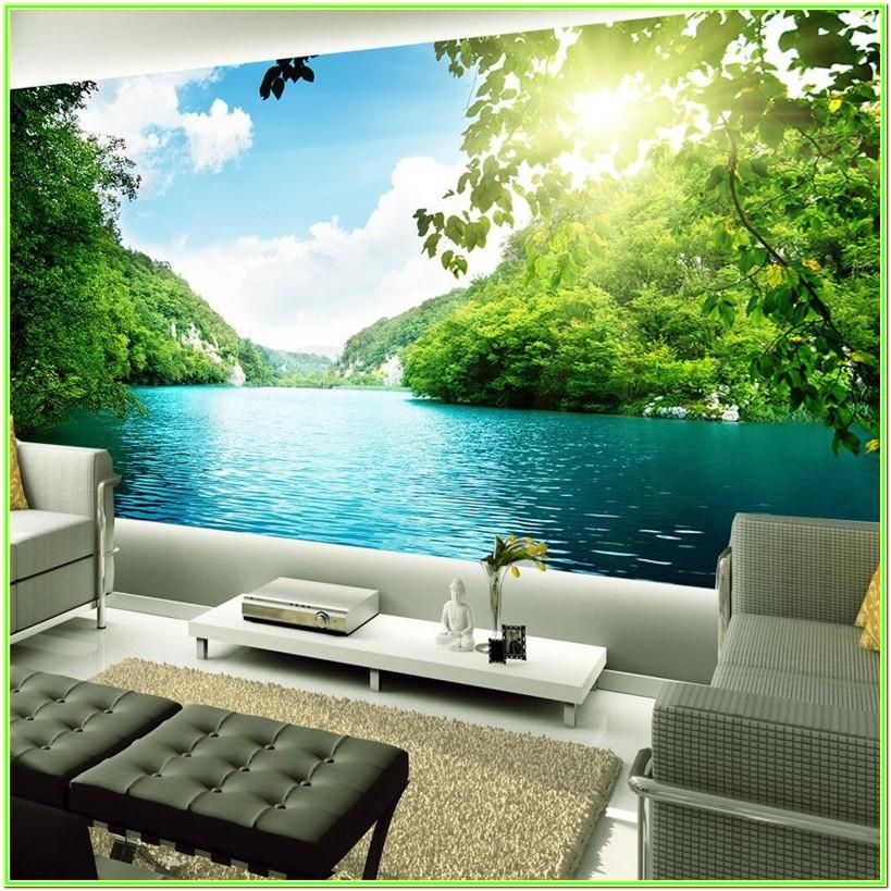 Living Room Nature Wall Painting Images