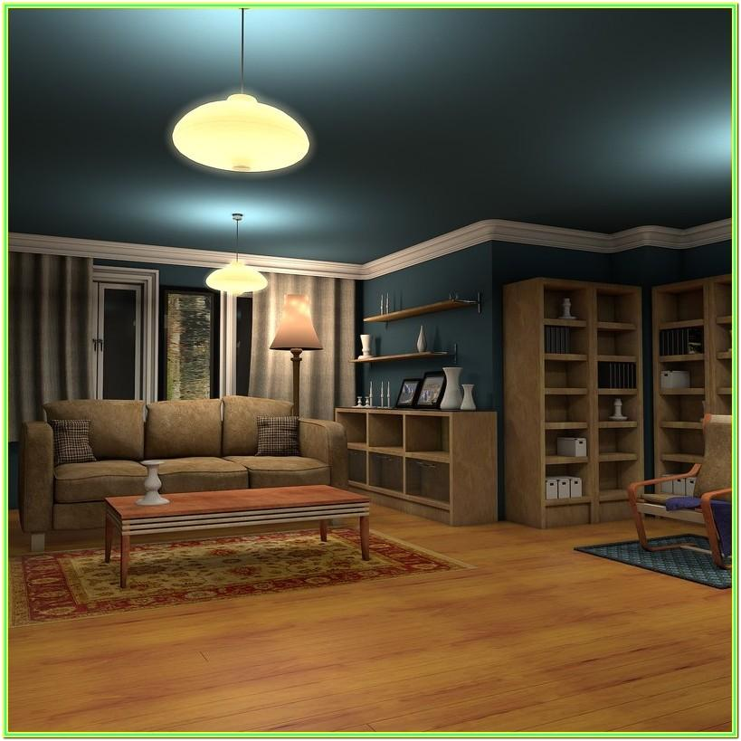 Living Room Night Interior Lighting
