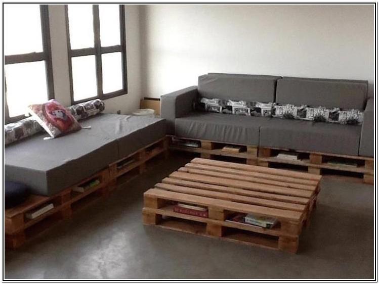 Living Room Pallet Sofa Ideas
