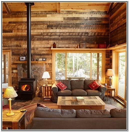 Living Room Pallet Wall Ideas
