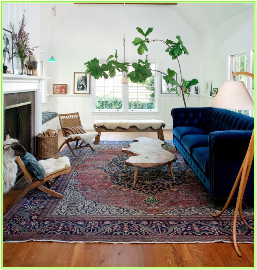 Living Room Persian Rug Decor