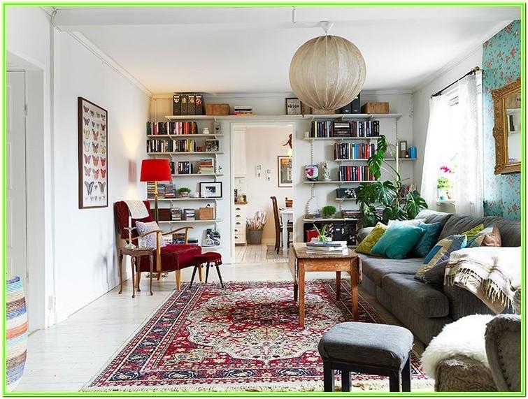 Living Room Persian Rug Interior Design