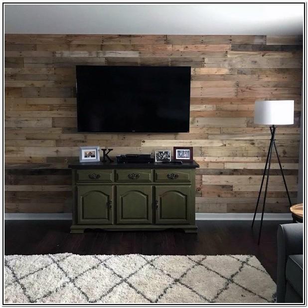 Living Room Reclaimed Wood Wall Ideas