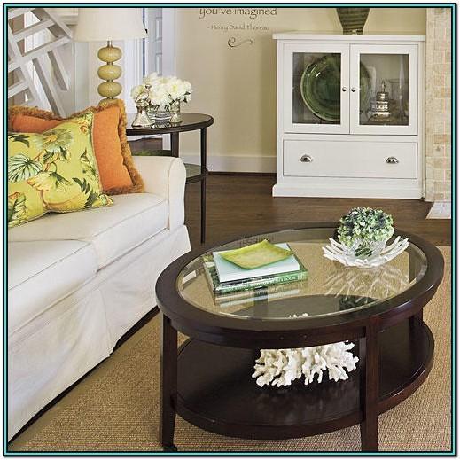 Living Room Round Coffee Table Decor Ideas