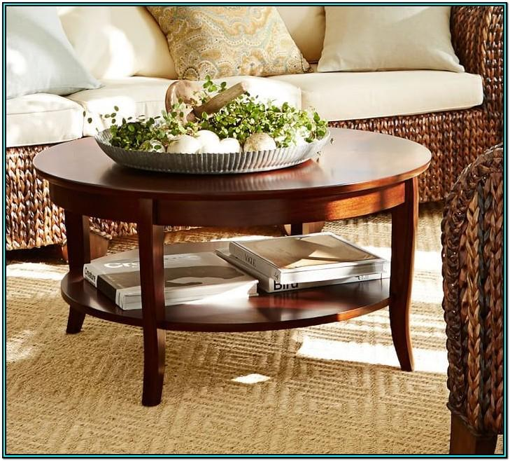 Living Room Round Coffee Table Decor
