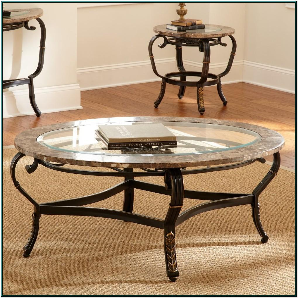 Living Room Round Glass Coffee Table