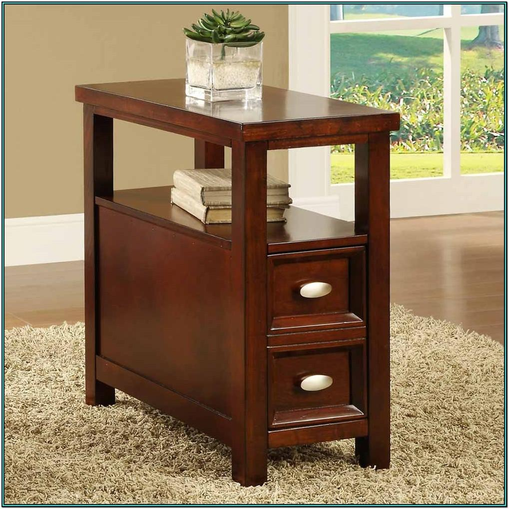 Living Room Side Table With Drawers