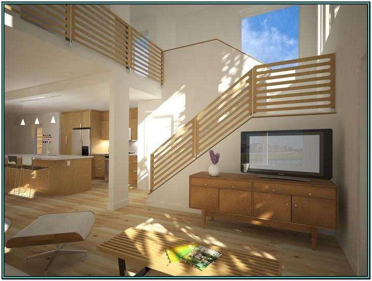 Living Room Simple House Stairs Design