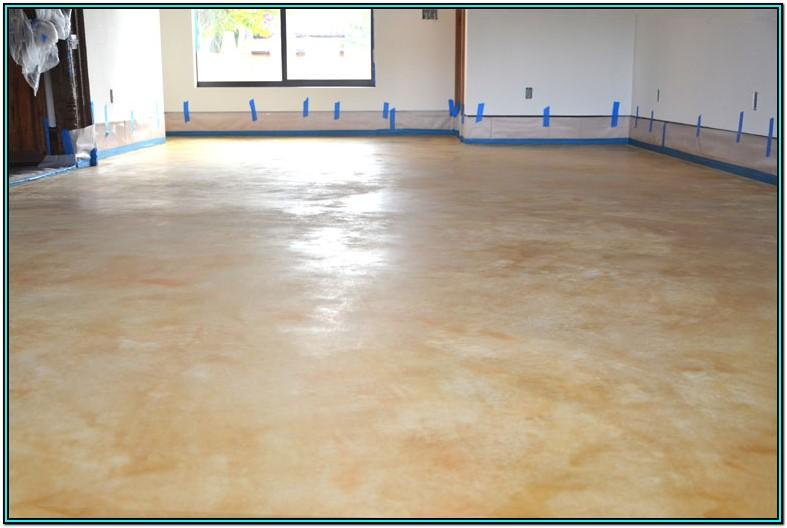 Living Room Stained Concrete Floors