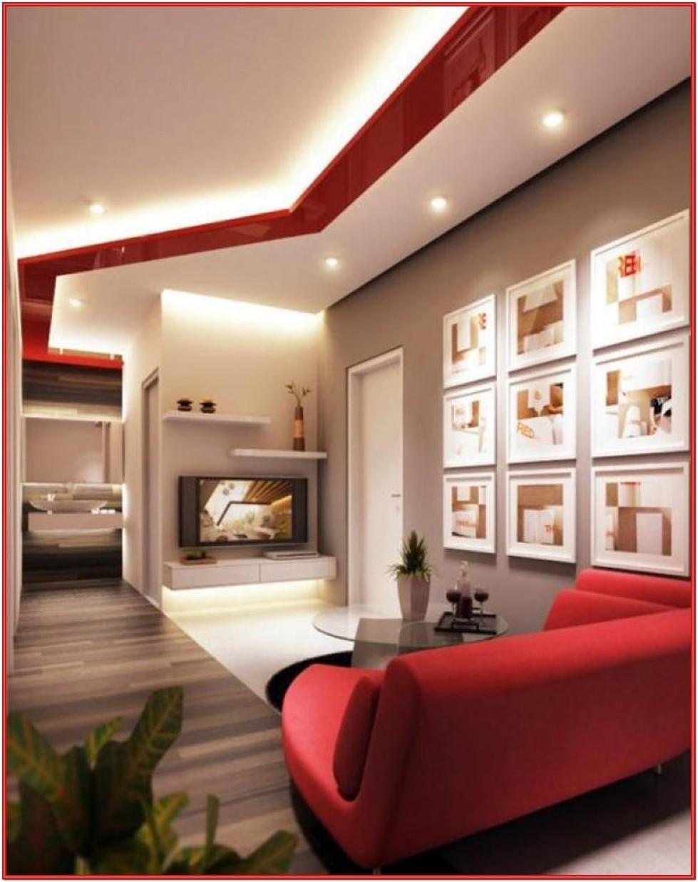 Living Room Stone Wall Design Ideas