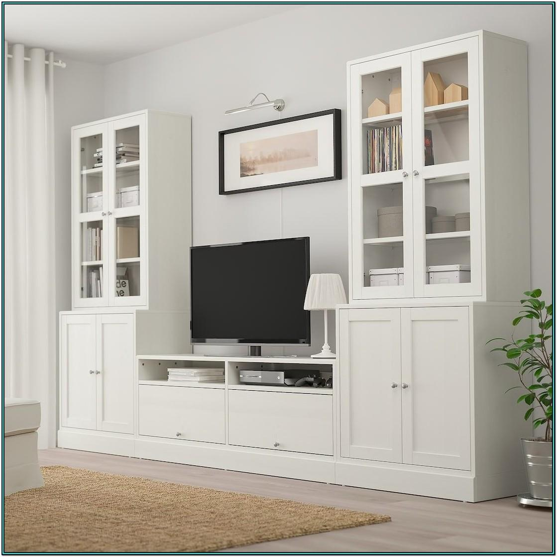 Living Room Storage Cabinets With Glass Doors