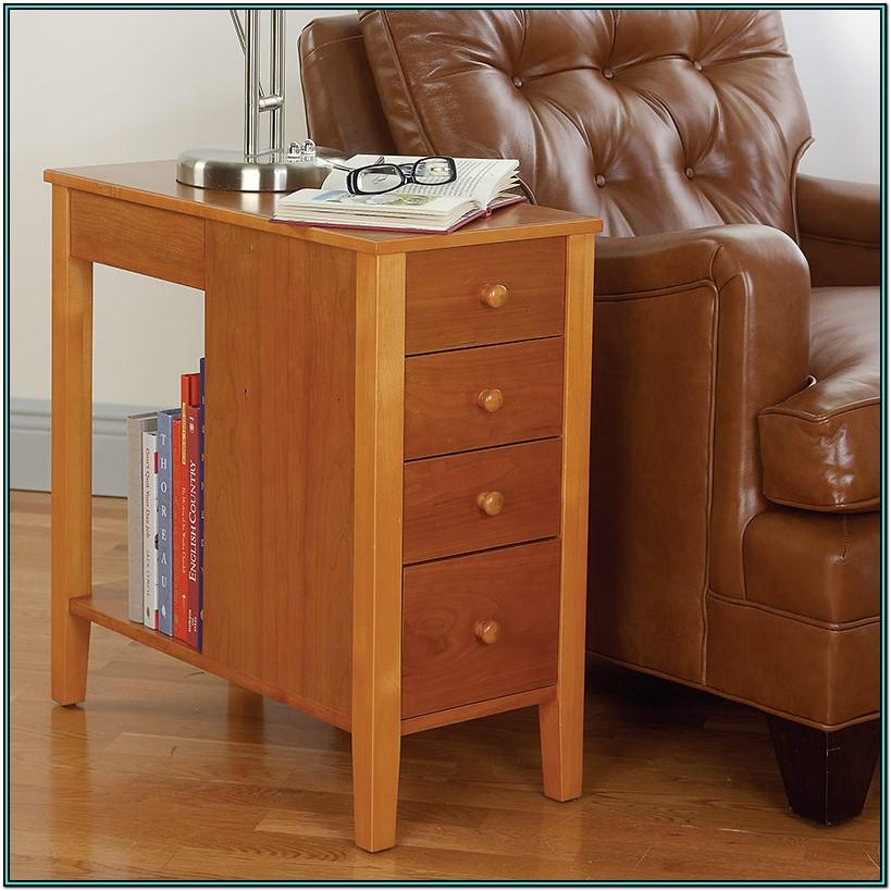 Living Room Storage Design Side Table With Drawer