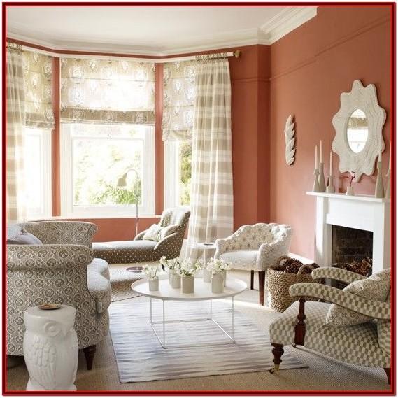 Living Room Terracotta Paint Ideas