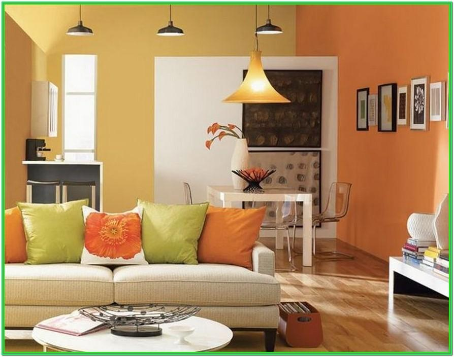 Living Room Two Color Wall Paint Ideas