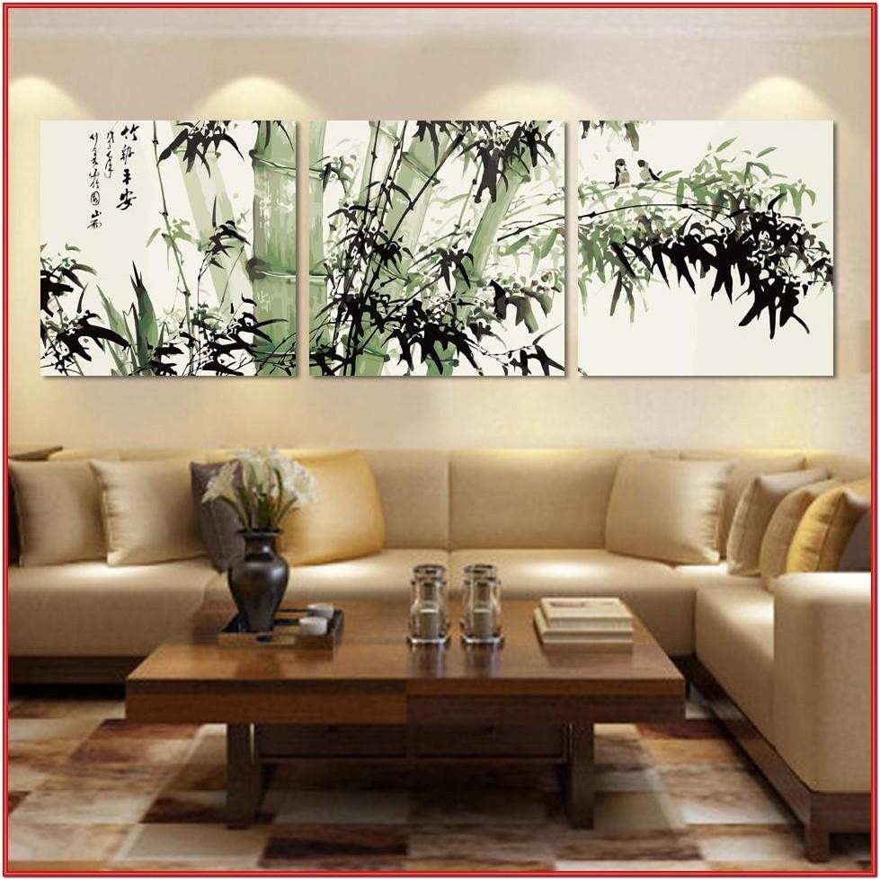 Living Room Wall Drawing Design Ideas