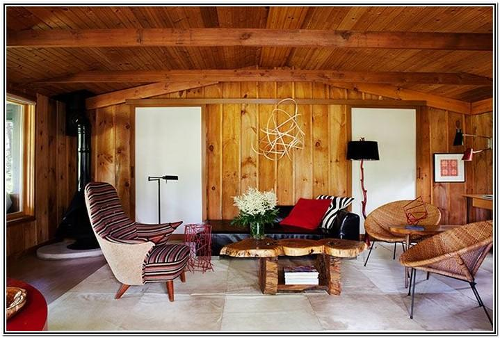 Living Room Wall Wood Design Ideas
