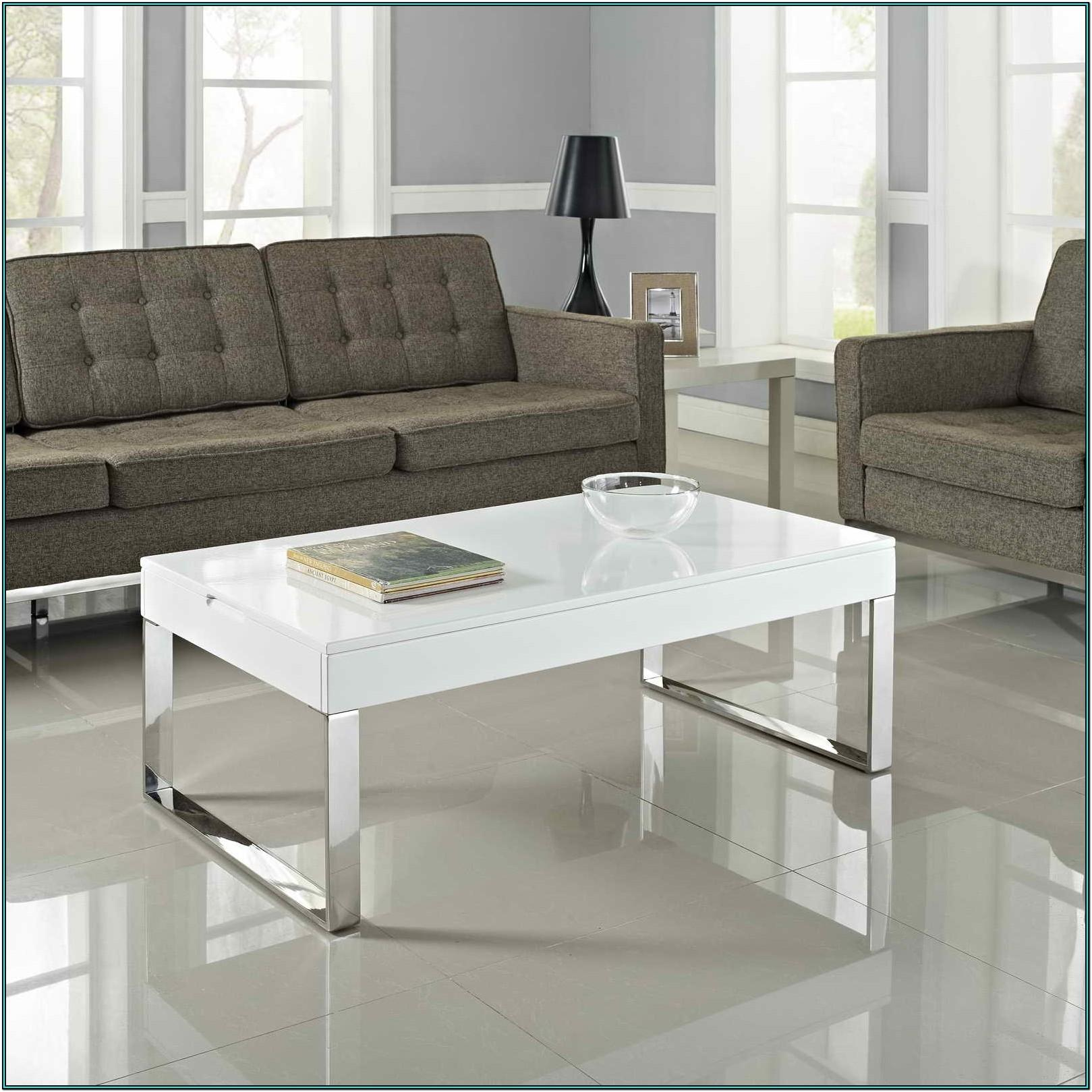 Living Room White Center Table
