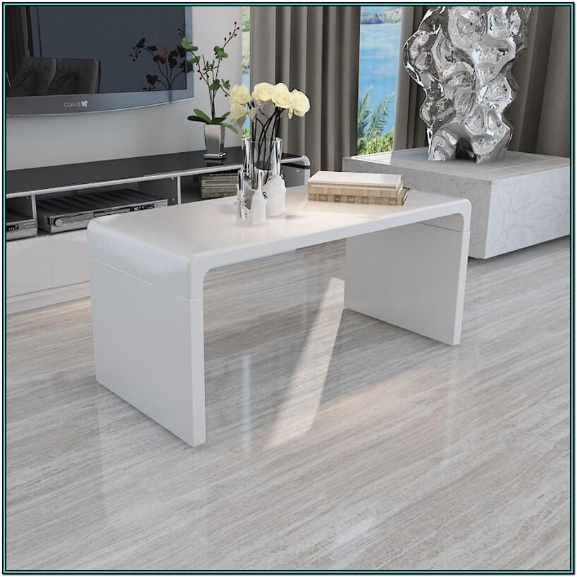 Living Room White Side Table