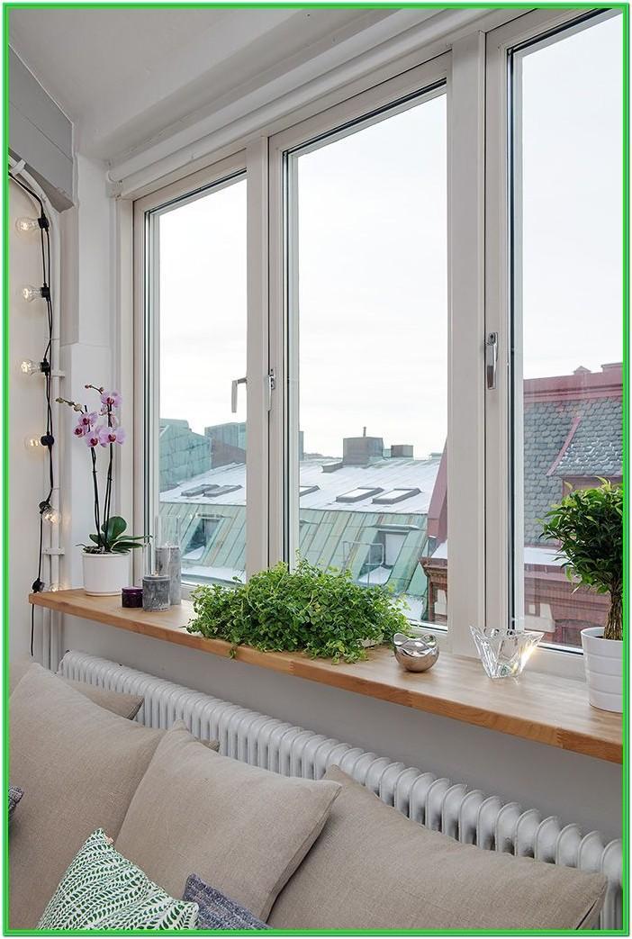 Living Room Window Sill Decor