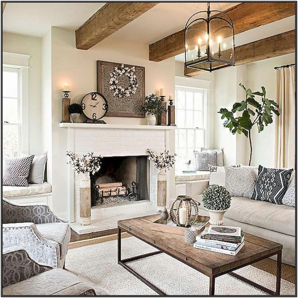 Living Room With Fire Place Ideas