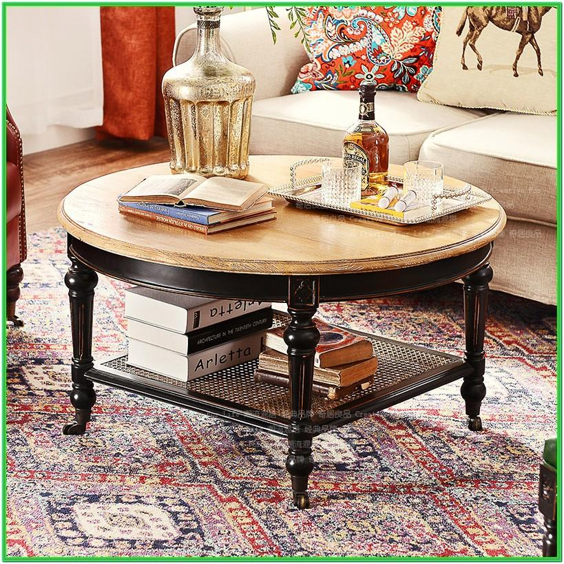 Living Room With Round Coffee Table