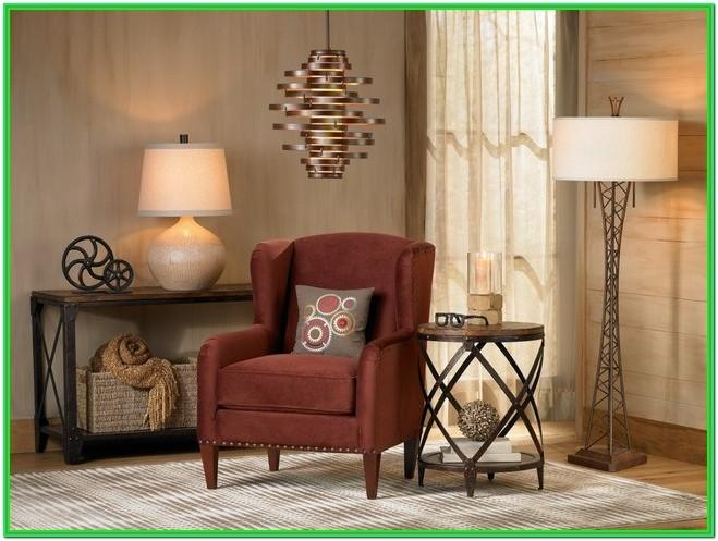 Living Room With Two Floor Lamps